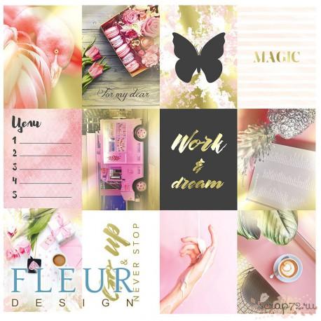 "Набор карточек ""Pretty pink"" 7,5х10 см"
