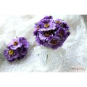 Тканевый цветок, цвет фиолетовый, 1шт