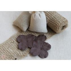 Цветы гортензии темно-коричневые, 5см, 10шт.