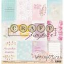 """Односторонняя бумага Карточки """"Цветочная вышивка"""", 30.5*30.5 см, плотность 190 гр/м2"""