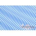 Хлопок Голубая полоска на белом, 40*50см