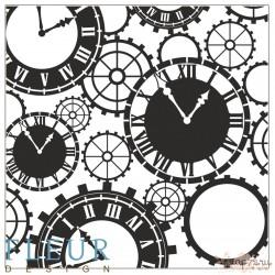 """Набор штампов Часы, коллекция """"Новогодняя"""", 10,5х10,5 см FD4010028"""