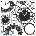 """Набор штампов Часы, коллекция """"Новогодняя"""", 10,5х10,5 см"""