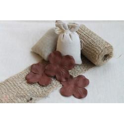 Цветы гортензии коричневые, 5см, 10шт.