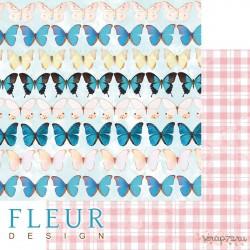 "Лист бумаги для скрапбукинга ""Бабочки"", коллекция ""Твори"", 30,5х30,5 см, плотность 190 гр"