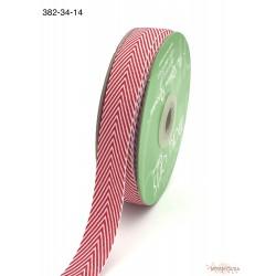 Лента Twill от May Arts, шеврон, цвет красный, 19мм, 90см