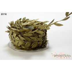 Лента с листочками от May Arts, цвет темно-зеленый, 90см