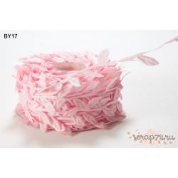 Лента с листочками от May Arts, цвет розовый, 90см