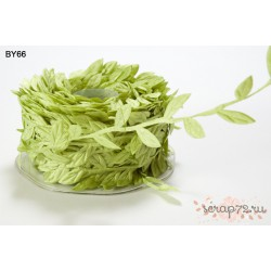 Лента с листочками от May Arts, цвет светло-зеленый, 90см
