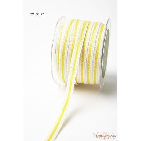 Декоративная лента от May Arts, цвет сливочный/желтый, 10мм, 90см