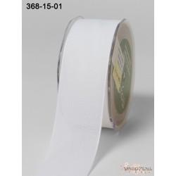 Лента Faux Linen от May Arts, цвет белый, 40мм, 90см