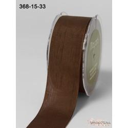Лента Faux Linen от May Arts, цвет мягкий коричневый, 40мм, 90см