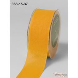 Лента Faux Linen от May Arts, цвет желтый, 40мм, 90см