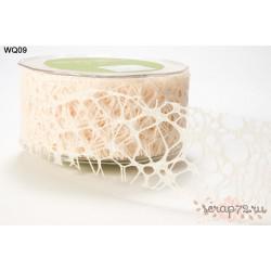 Декоративная лента от May Arts, цвет слоновая кость , 50мм, 90см