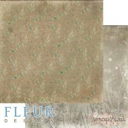 """Лист бумаги для скрапбукинга """"Травы"""", коллекция """"Дары полей"""", 30,5х30,5 см, плотность 190 гр"""