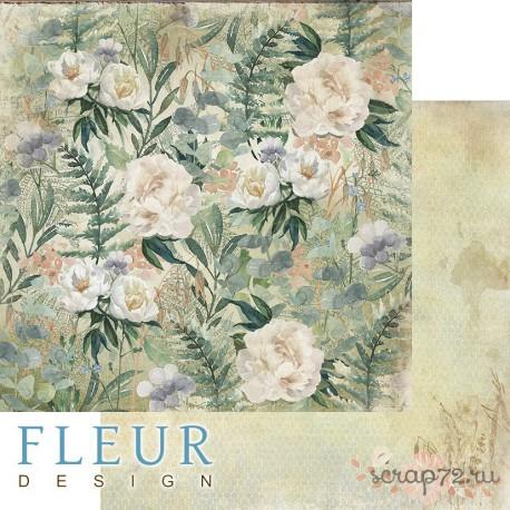 """Лист бумаги для скрапбукинга """"Полевые цветы"""", коллекция """"Дары полей"""", 30,5х30,5 см, плотность 190 гр, FD1006503"""