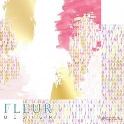 """Лист бумаги для скрапбукинга """"Красочный праздник"""", коллекция """"Pretty violet"""", 30,5х30,5 см, плотность 190 гр, FD1007002"""
