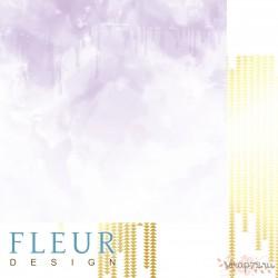 """Лист бумаги для скрапбукинга """"Сиреневая акварель"""", коллекция """"Pretty violet"""", 30,5х30,5 см, плотность 190 гр, FD1007003"""