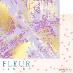 """Лист бумаги для скрапбукинга """"Фиолетовое буйство"""", коллекция """"Pretty violet"""", 30,5х30,5 см, плотность 190 гр, FD1007004"""
