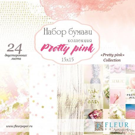"""Набор бумаги """"Pretty pink"""" 15х15, 24 двусторонних листа, FD1006815"""