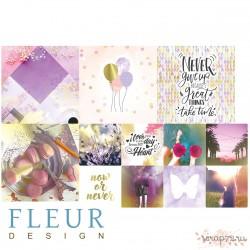 "Набор карточек ""Pretty violet"" 9,5х9,5 + 5х5 см, FD1117011"