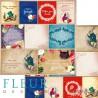 """Лист бумаги для скрапбукинга """"Карточки"""", коллекция """"В стране чудес"""", 30х30, плотность 190 гр, FD1005211"""