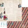 """Лист бумаги для скрапбукинга """"Сказка"""", коллекция """"В стране чудес"""", 30х30, плотность 190 гр, FD1005205"""