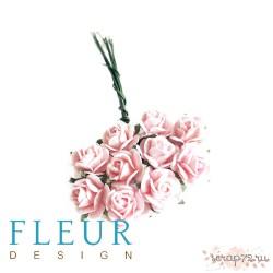Мини-розочки Нежно-Розовые, размер цветка 1 см, 10 шт/упаковка FD3072002