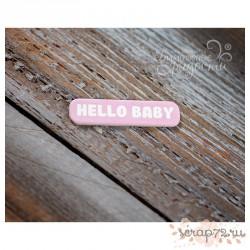 """Чипборд Мини-табличка """"Hello Baby"""""""