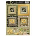 Рамки из чипборда с фольгированием (золото) для скрапбукинга 30шт Cozy Forest от Scrapmir