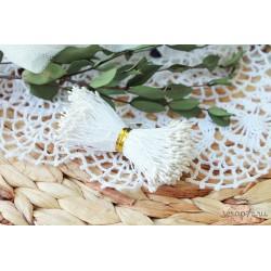 Двусторонние тычинки, цвет белый, 2мм, 75 шт