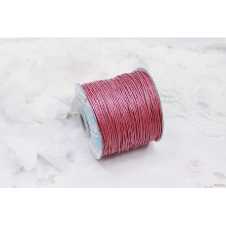 """Шнур """"Gamma"""" 1 мм вощеный, ярко-розовый, 1м"""