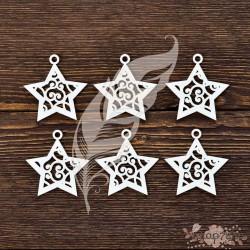 Новогодние звёздочки (6 элем. 5х5 см - 1 эл.)