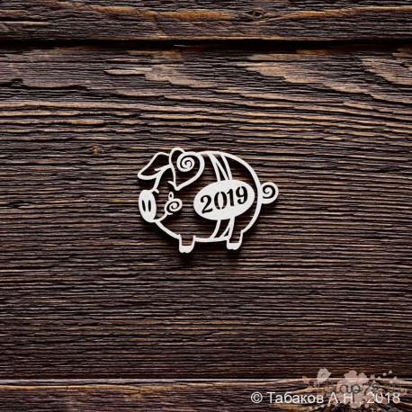 Свинка 2019 №2 (4,3 х 3,2 см)