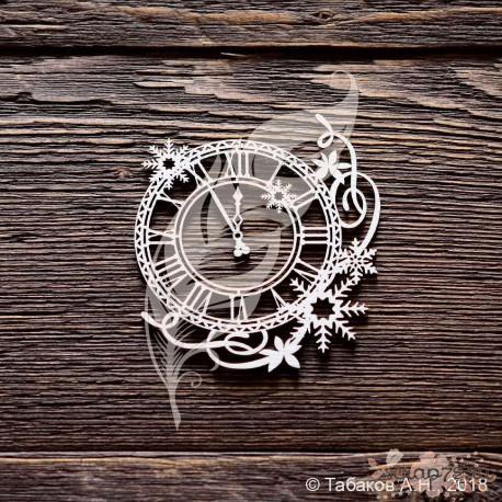 Часы со снежинками, 6 х 6,7 см