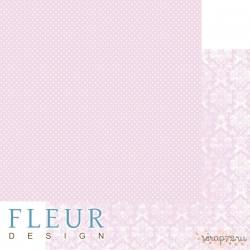 """Лист бумаги для скрапбукинга """"Нежный Розовый"""", коллекция """"Шебби Шик Базовая 2.0"""", 30,5х30,5 см, плотность 190 гр"""