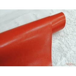 Переплетный кожзам (экокожа) глянцевый, цвет оранжевый (Италия) 33*35см