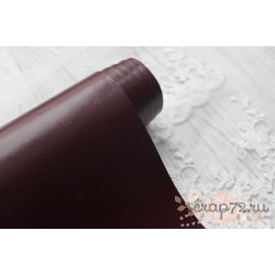 Переплетный кожзам (экокожа) глянцевый, цвет бордо (Италия) 33*35см