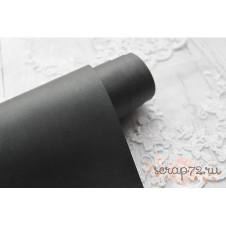 Переплетный кожзам (экокожа) матовый, цвет серый (Италия) 33*35см