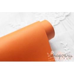 Переплетный кожзам (экокожа) матовый, цвет апельсин (Италия) 33*35см