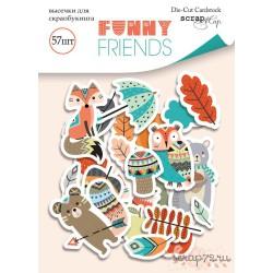 Набор высечек для скрапбукинга 57шт от Scrapmir Funny Friends