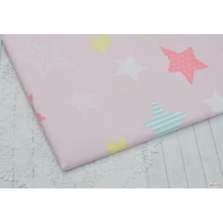 Хлопок Звезды на розовом, 53*50см