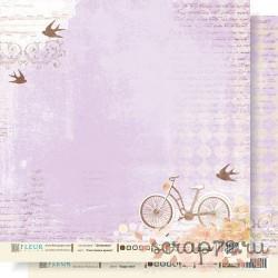 """Лист бумаги для скрапбукинга """"Счастливое время"""" , коллекция """"Девичник"""", 30 на 30 плотность 190 гр"""