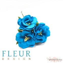 Цветы Дикие Розы ,бирюзовые, размер цветка 4,5 см, 3 шт/упаковка FD3123266