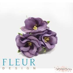 Цветы Дикие Розы фиолетовые, размер цветка 4,5 см, 3 шт/упаковка FD3123185
