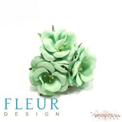 Цветы Дикие Розы мятные, размер цветка 4,5 см, 3 шт/упаковка FD3123166