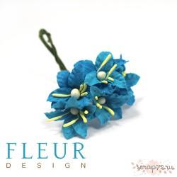 Мини -Лилии  бирюзовый , размер цветка 2,5 см, 5 шт/упаковка FD3113266