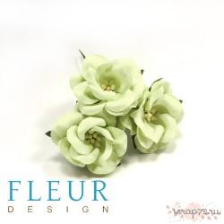 Цветы Дикие Розы светло-зеленые, размер цветка 4,5 см, 3 шт/упаковка FD3123161