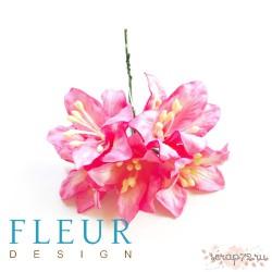 Цветы Лилии розовые, размер цветка 3,75 см, 5 шт / упаковка FD3031517