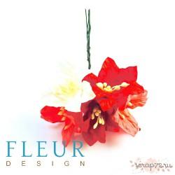 Цветы Лилии микс красно-розовых оттенков, размер цветка 3,75 см, 5 шт / упаковка FD3031078
